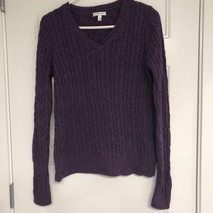 Plum cotton sweater